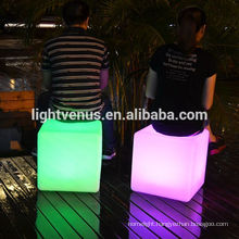 China Manufactuer 30cm LED Cube Table rgb garden light ip68