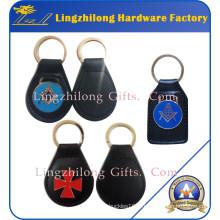 Porte-clés en métal porte-clés Fob Porte-clés en cuir maçonnique