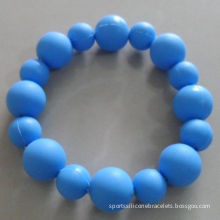 Lightweight Sports Silicone Bracelets , Teether Beads / Silicone Round Beads