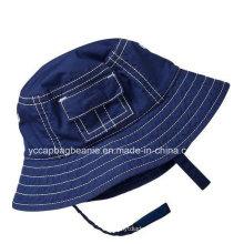 Мальчик джинсовой шляпе ведро, летняя шляпа мальчика