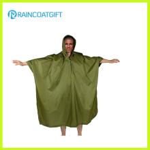 Adulto Camping Poliéster PVC Revestimiento Poncho de lluvia Rpy-042
