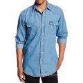 Mens Dress Basic Shirts Denim Fashion Casual Slim Fit Shirts