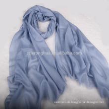 blaue Farbe Ebene Pashmina Kashmiri Schal