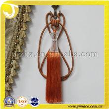 Naranja acrílico cortina tieback borla en stock