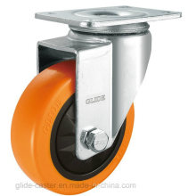 Medium Duty Single Bearing PP Caster (Orange) (G3103)
