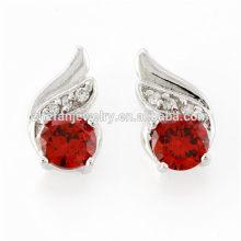 Accesorios de precio de fábrica para la joyería aretes de ala de ángel de diamante