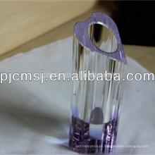 Vaso de cristal retangular com a flor personalizada para o Decoraion home