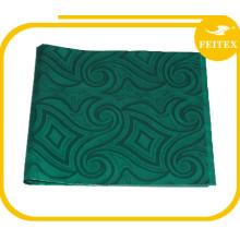 Tissu africain de rideau en fil de jacquard de jacquard de coton tissé par brocart africain de textile
