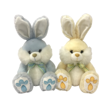 Easter Bunny Plush With Bow