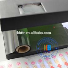 Impressora de segurança fita uv preto para verde amarelo impressão etiquetas anti-falsas