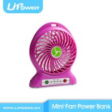 Портативный портативный батарейный источник питания Банка мини-вентилятор