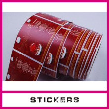 silicone bottle waterproof labels custom logo lable