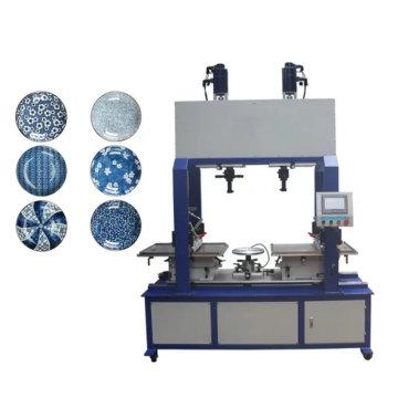 Machine de tampographie pour assiettes en céramique