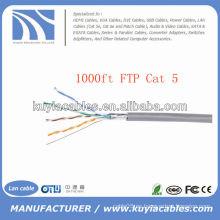 1000FT RJ 45 Cat5e Ethernet de red de cable de FTP a granel