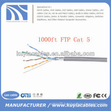 1000FT RJ 45 Cat5e Network Ethernet Bulk FTP Cable