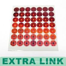 Etiqueta engomada colorida de la impresión incluyendo etiqueta engomada desprendible y etiqueta engomada permanente