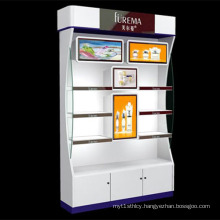 Hot Sales Wooden Exhibit Display with LED Light Platform