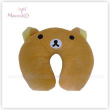 Coussin d'oreiller de cou de dessin animé d'ours