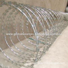 Galvanized razor barbed wire for fencing with BV+ISO+SGS certificates (Anping professional factory)