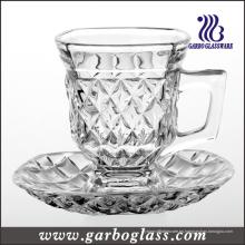 Taza de cristal de 5 onzas fijada para el té o el café (TZ-GB09D1405ZS)