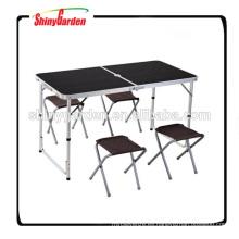 plegable conjunto de mesa y silla de aluminio portátil