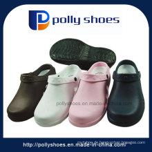 Frauen Schwarz / Rosa PVC T-Strap Sandalen
