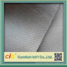 China High Quality 100% Polyester Geniune Suede Fabric