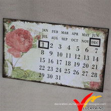 Luckywind Metal Antiguo y Shabby Wall Art Calendario
