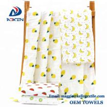 2018 лучшие продажи удобные 110x110cm марля хлопок 6 слоя детские Муслин одеяло