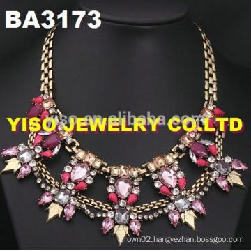 birthday party rhinestone necklace