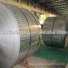 hoja de aluminio decorativa en relieve