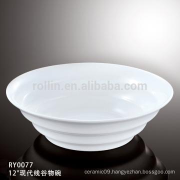 "2014 new design modern line round ceramic big bowl 12"" 14"""