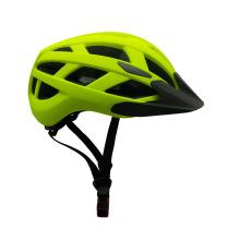 Capacete de bicicleta LED unissex OEM com viseira de sol