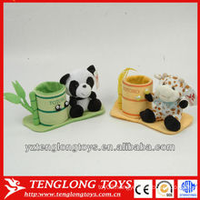 new type lovely and cute plush animal shaped pencil holder
