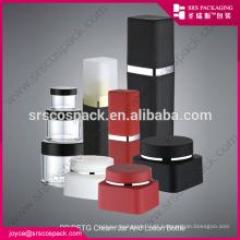China 30ml 50ml Praça Praça Forma Creme Jar Para Embalagem Cosmética PP 30ml Garrafa Embalagem