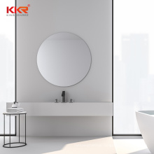 Bathroom Resin Stone Wash Basin Wall Hung Sink with Faucet Hole