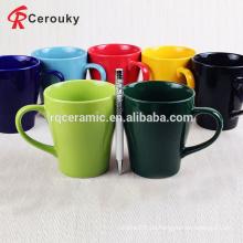 Taza de cerámica de la taza de la leche del color puro de la alta calidad 300ml