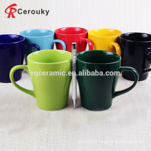 High quality 300ml pure color ceramic milk mug cup