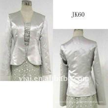 JK60 Frauen Perlen lange Ärmel Hochzeit Jacke