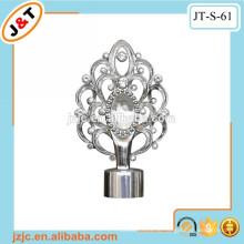 Home dekoration aluminium stretch metall pol mit diamantvorhang finial