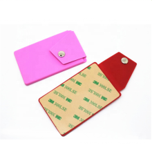 New design silicone phone card holder with 3m