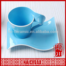 2014 newly design porcelain cup and saucer with tea bag holder