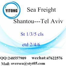 Consolidation de LCL du port de Shantou à Tel Aviv