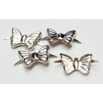 Butterfly Nailheads Trim, Metal Nailheads Studs 2 Prong