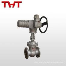 astm a216 wcb brides en acier inoxydable vanne à vanne dn100 avec actionneur électrique