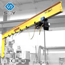 Column mounted free standing jib crane, Electric floor crane