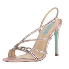 Strappy Sandals for Women Open Toe Metallic High Heels Pumps Wedding Shoes
