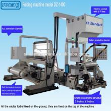 Homologués CE film plastique plieuse pour toutes sortes de film de modèle DZ1400