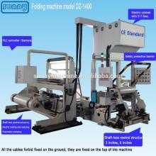 CE aprovado película plástica, máquina para todos os tipos de modelo de filme DZ1400 de dobramento