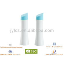 Torch oil and vinegar bottle with silicone lid